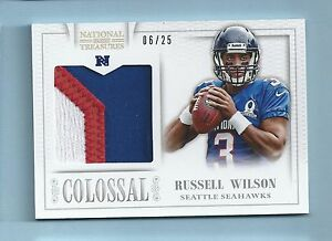 RUSSELL-WILSON-2013-NATIONAL-TREASURES-COLOSSAL-3-COLOR-PATCH-25-SEAHAWKS