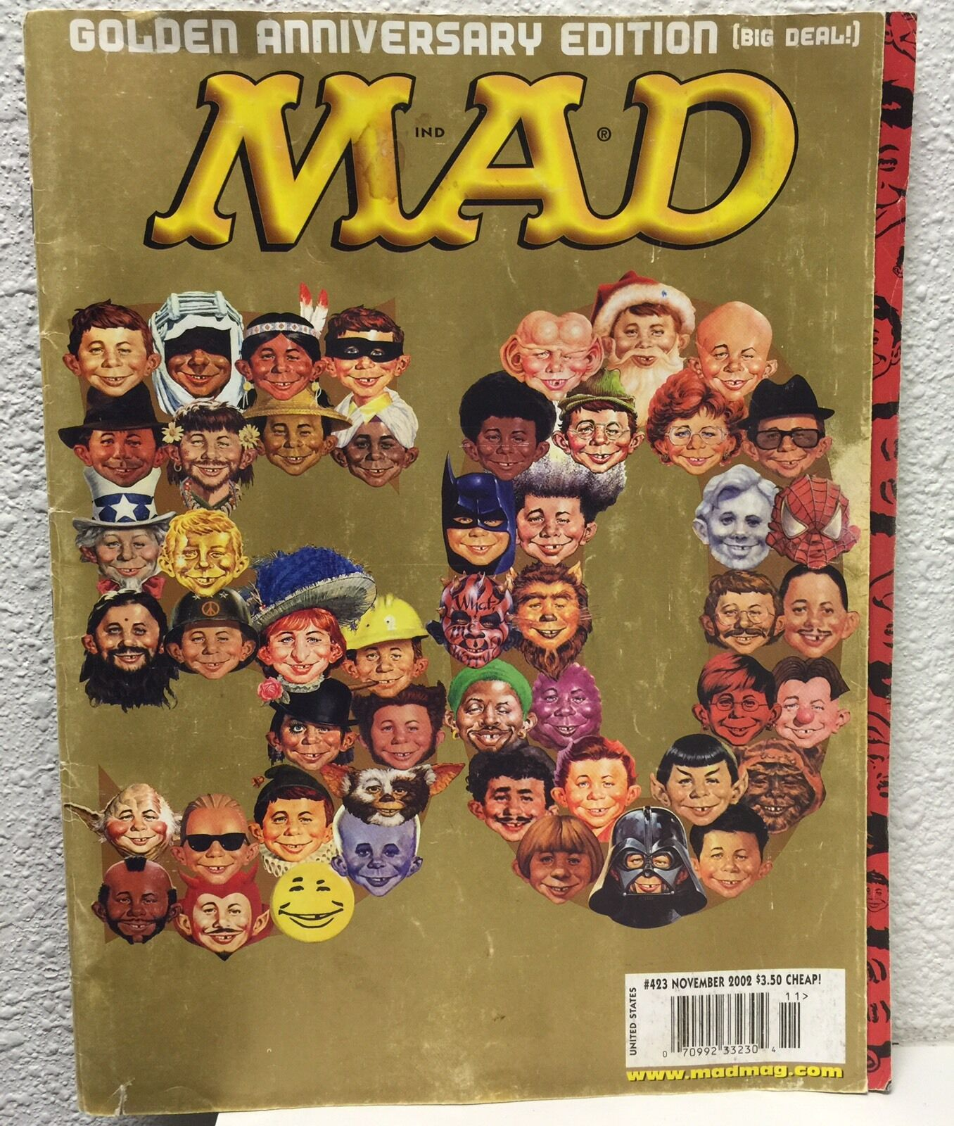 Details about  /INSIDE MAD 50TH ANNIVERSARY EDITION 2002 VERY FINE NEAR MINT