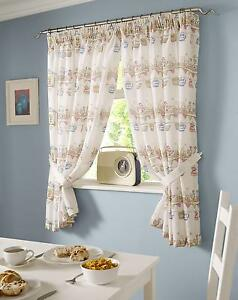 Image Is Loading Happy Ducks Printed Kitchen Curtains Lovely Looking Curtain
