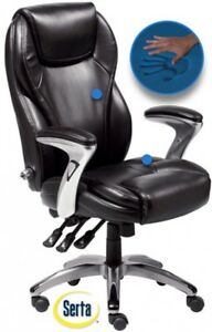 Black-Leather-High-Back-Office-Chair-Executive-Task-Ergonomic-Computer-Desk-NEW