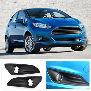 Right Side Front Bumper Fog Light Lamp Cover Grille For Ford Fiesta 2013-2015 14