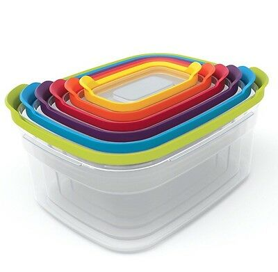 Joseph Joseph Nest Compact Storage Containers Classic - Multi-Colour 6 Piece Set
