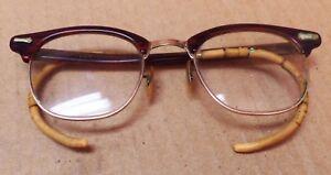f167785a9bf2 Image is loading Old-Antique-Shuron-Gold-Filled-Bifocal-Eye-Glasses-