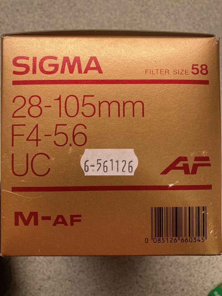 Objektiv zoom 28-105mm autofocus, Signa, 28-105 F4-5,6 UC