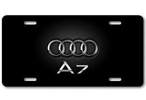AUDI RINGS Aluminum White Metal Car Auto License Plate Tag New