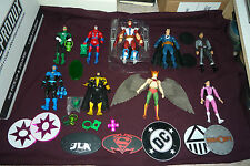 9pc Huge DC Direct Action Figure Lot Lantern Core New Krypton Superman Manhunter