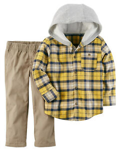 659cb7439 Carters 18 Months 4T Flannel Shirt & Pant Set Baby Toddler Boy ...
