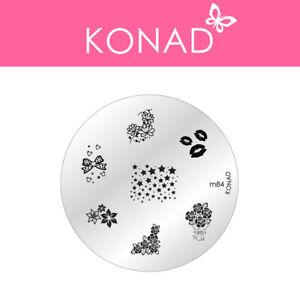 Original KONAD ® Stamping Nailart Design Schablone Image Plate - M84