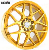 17x7.5 +35 Aodhan Ls002 5x114.3 Gold Wheel Fits Sienna Camry Galanti Lancer Es