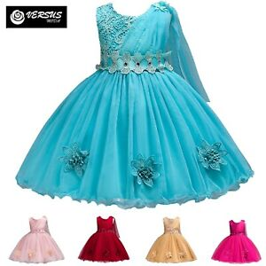 Vestito-Damigella-Cerimonia-Abito-Bambina-Girl-Party-Bridesmaid-Dress-CDR088