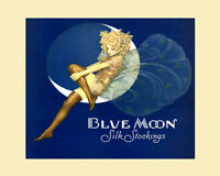 Blond Girl Lady Fairy Blue Moon Silk Stockings 16x20 Vint Poster Repro Free S/h
