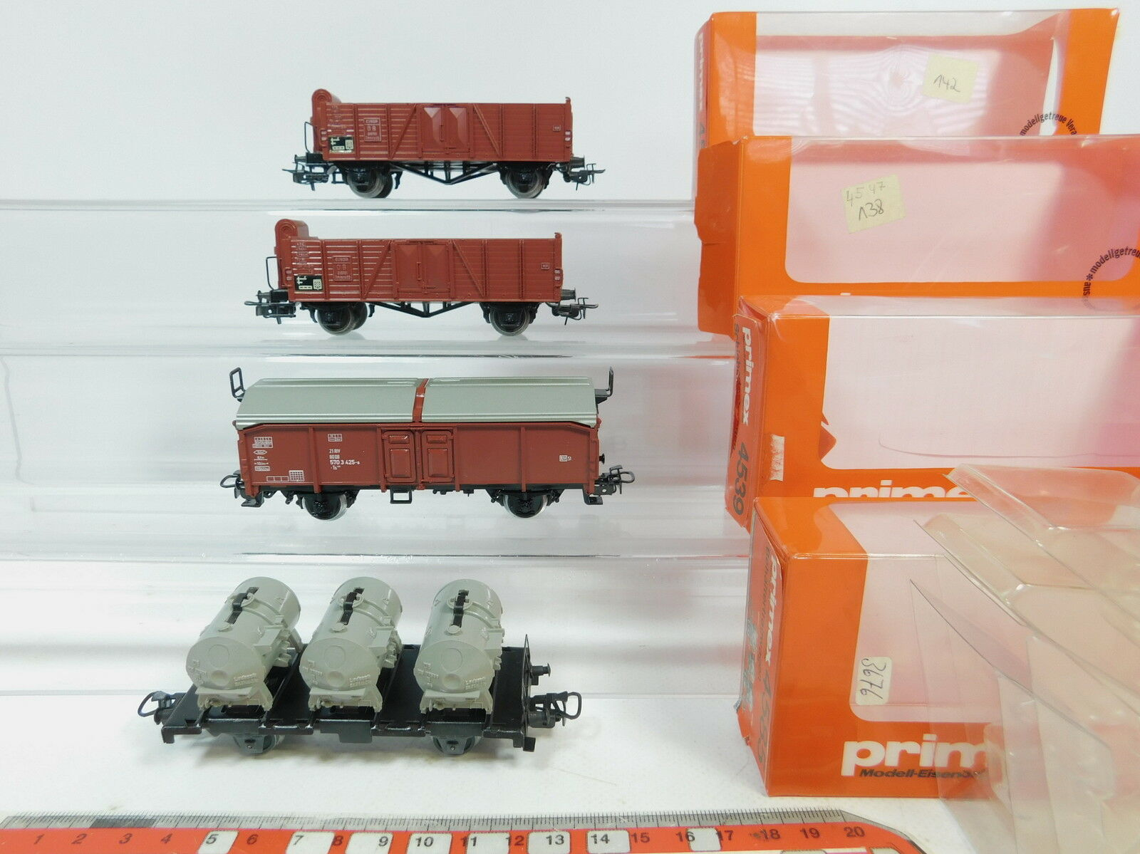 AZ248-1x Primex Märklin H0 AC Güterwagen DB  4547+4585+4539, sehr gut+OVP