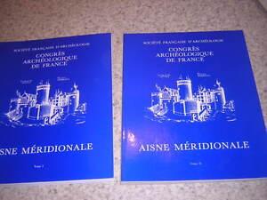 1994.Congrès archéologique France.Aisne méridionale.moyen age.archéologie.2/2