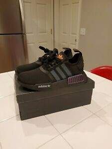 Adidas Kids Nmd R1 Shoes Core Black Solar Orange Cloud White Fv8026 New Ebay