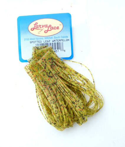 SPOTTED LEGZ 100 Gummibeine a´13cm Larva Lace USA 11 Farben Spotted Legs