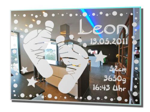 Motivo espejo regalo de nacimiento 14 espejos pared grabado joyas idea de regalo Baby