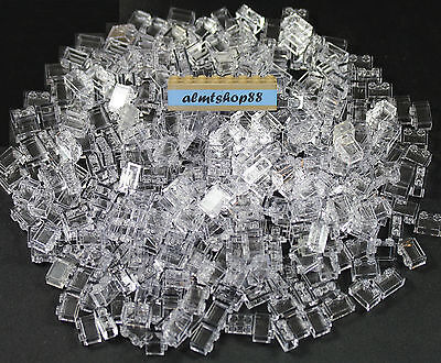 #3004 LEGO 1x2 White Transparent Clear Bricks x 10 pieces Per Package