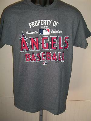 Fanartikel Diplomatisch Neu Los Angeles Angels Of Anaheim Herren S S Grau Majestic Marke T-shirt Baseball & Softball