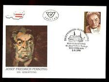 Austria 1990 Josef Fredrich Perkonig, Writer FDC #C2986