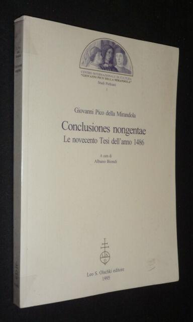 Conclusiones Nongentae: Il Novecento Tesi Dell'Anno 1486