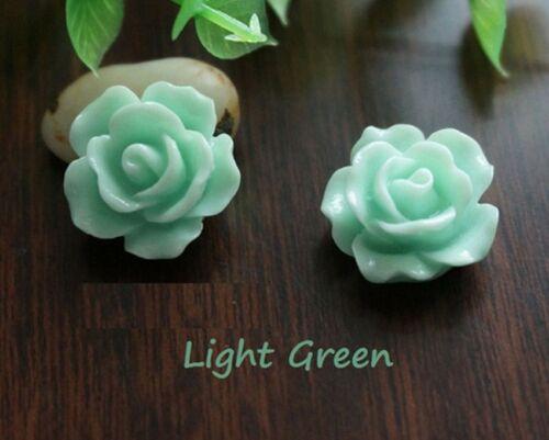 NEW 30pcs Resin Rose Flower Flatback Appliques For Phone//Wedding//Crafts US