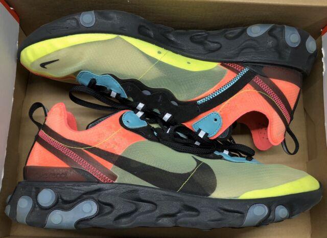 Nike Mens React Element 87 X Undercover Volt//University Red-Black BQ2718-700