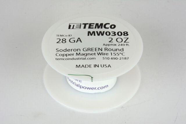 Magnet-/Lackdrähte TEMCo Magnet Wire 29 AWG Gauge Enameled Copper 8oz 155C 1232ft Coil Winding Kabel & Leitungen