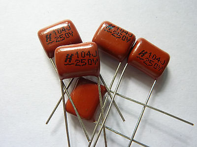 200PCS CBB 104J 250V CBB21 0.1UF 100NF P10 Metallized Film Capacitor