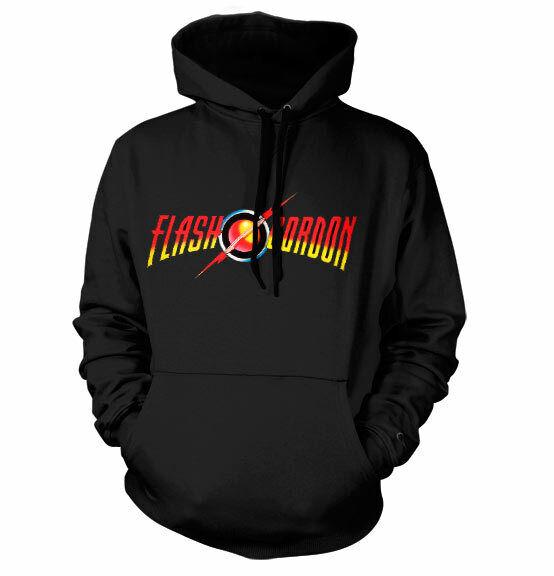 Offiziell Lizenziert Flash Gordon Logo Groß & Hochgewachsen 3XL, 4XL, 5XL Kapuze