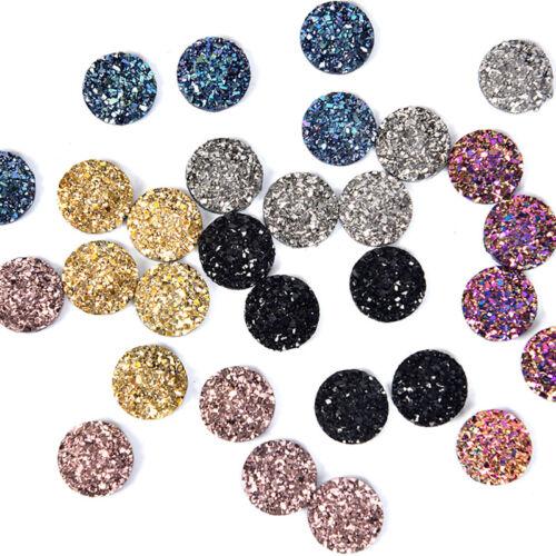 50Pcs//Set 12mm Resin Dome Cabochon DIY Scrapbook Jewelry Flat Back Rhinestone/_DM