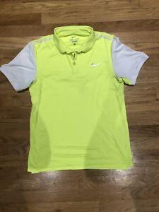 e21334cf Men's Nike Dri-Fit Running Shirt Size M Medium Yellow White Athletic ...