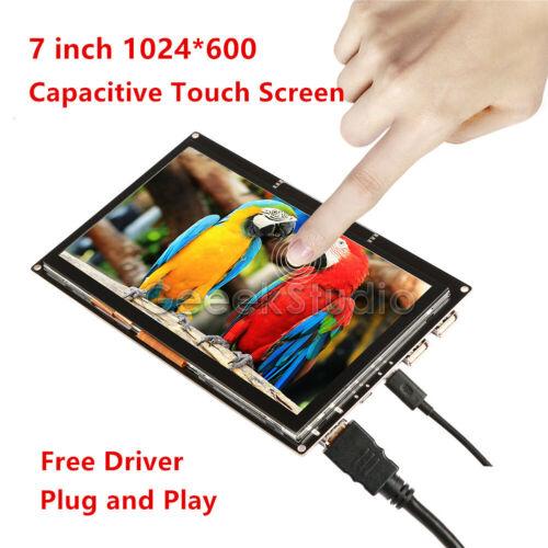 1024x600 Pantalla Táctil Capacitiva Hdmi Pantalla LCD TFT para Raspberry Pi approx. 17.78 cm 7 in