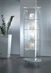 Dettagli su Vetrina vetrinetta in vetro cristallo nuova esposizione  soggiorno sala salotto