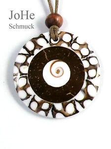 JoHe-Schmuck-Perlmutt-Muschel-Anhaenger-Harz-rund-Kette-Baumolle-Zugband