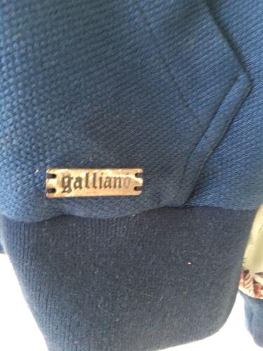 sudadera Autᄄᆭntica Galliano con patrᄄᆴn con tamao de seda extra capucha azul pequeo drZrtqx