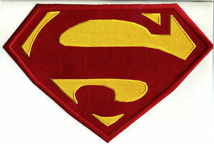 7-8-034-x-11-8-034-X-Large-Embroidered-Superman-Red-amp-Yellow-Chest-Logo-Iron-on-Patch