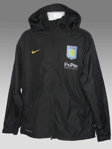 New NIKE ASTON VILLA Football Stormfit FX Pro RAIN JACKET Raincoats Black M