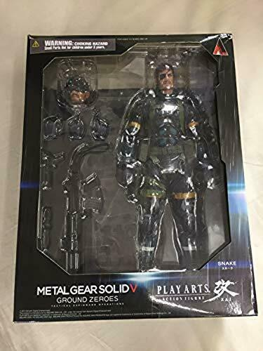 METAL GEAR SOLID V GROUND ZEROES PLAY ARTS Kai Snake PVC Painted Action USED