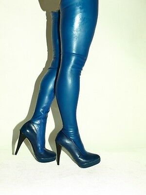 """LATEX RUBBER FETISH BOOTS SIZE 4-12 HEELS 5,5/""""-13CM POLAND PROMOTION"""