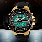 New Men Vogue Waterproof Sport Digital Analog Alarm Date Chronograph Wrist Watch