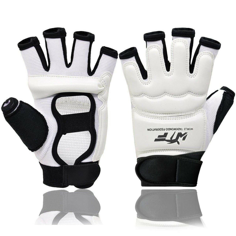Runspeed Taekwondo Gloves WTF Training Boxing Muay Thai Training Martial Arts Sparring Punch Bag Half Finger Mitts Sparring Gloves for Men Women Kids