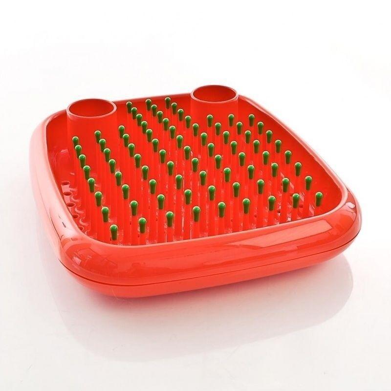 Magis Dish Doctor Plat Egoutoir Orange égouttoir vaisselle avec Vert Tips