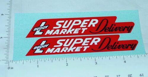 Buddy L Super caminhão de entrega do mercado Adesivos BL-076