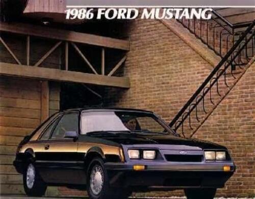 1986 Ford Mustang Sales Brochure Literature Dealer Advertisement Options Feature