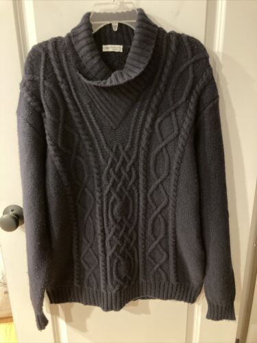 INIS MEAIN Cable Knit Cashmere / Wool Sweater Irel