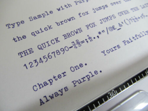 'IMPERIAL GOOD COMPANION 4' *PURPLE* TYPEWRITER RIBBON-MANUAL WIND+INSTRUCTIONS