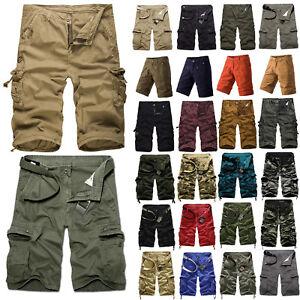hommes militaire camouflage short pantalon travail extérieur Armée Bas