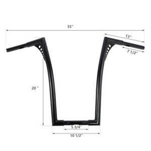 Manillar Ape Hanger 14 para Harley Dyna Switchback//Wide Glide Negro