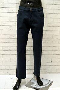 Jeans-Uomo-ICEBERG-Taglia-Size-52-Pantalone-Pants-Man-Cotone-Blu-Gamba-Dritta