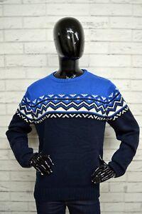 Maglione-Blu-Donna-PULL-amp-BEAR-Taglia-Size-M-Woman-Pullover-Cardigan-Lana-Wool